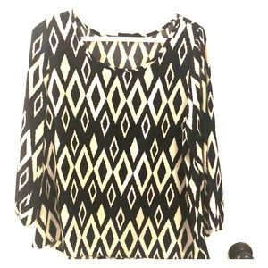 Perfect for work patterned blouse